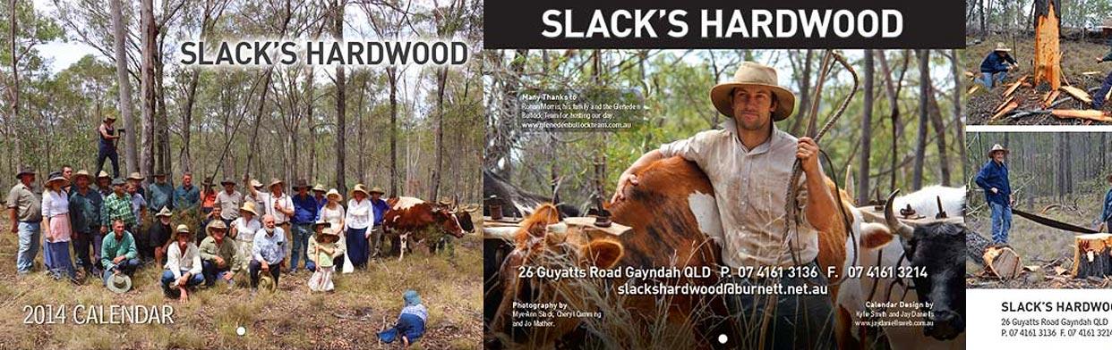 Example of our Print Graphic Design Work – Slack's Hardwood Calendar featuring Gleneden Family Farm