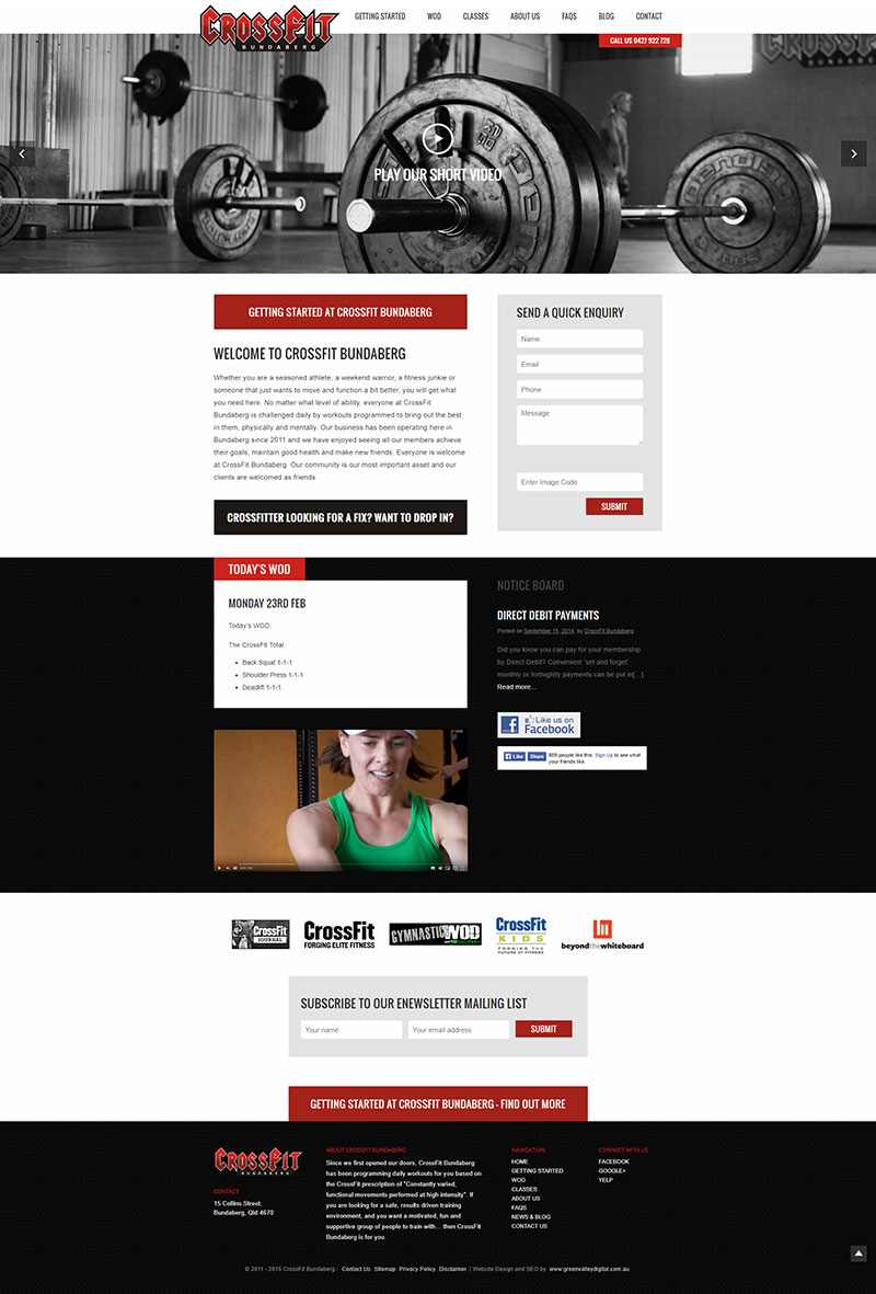 CrossFit Bundaberg - home page