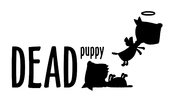 Dead Puppy logo - painted black