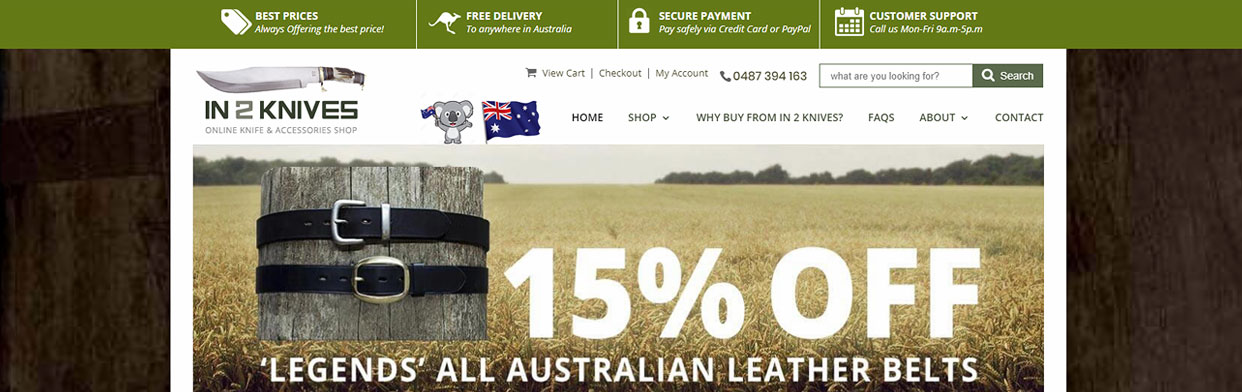 Website Case-Study: In 2 Knives eCommerce Retail Online Shop Website