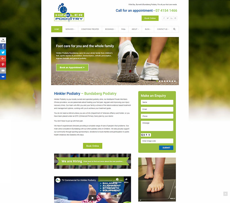 Part of the Hinkler Podiatry home page
