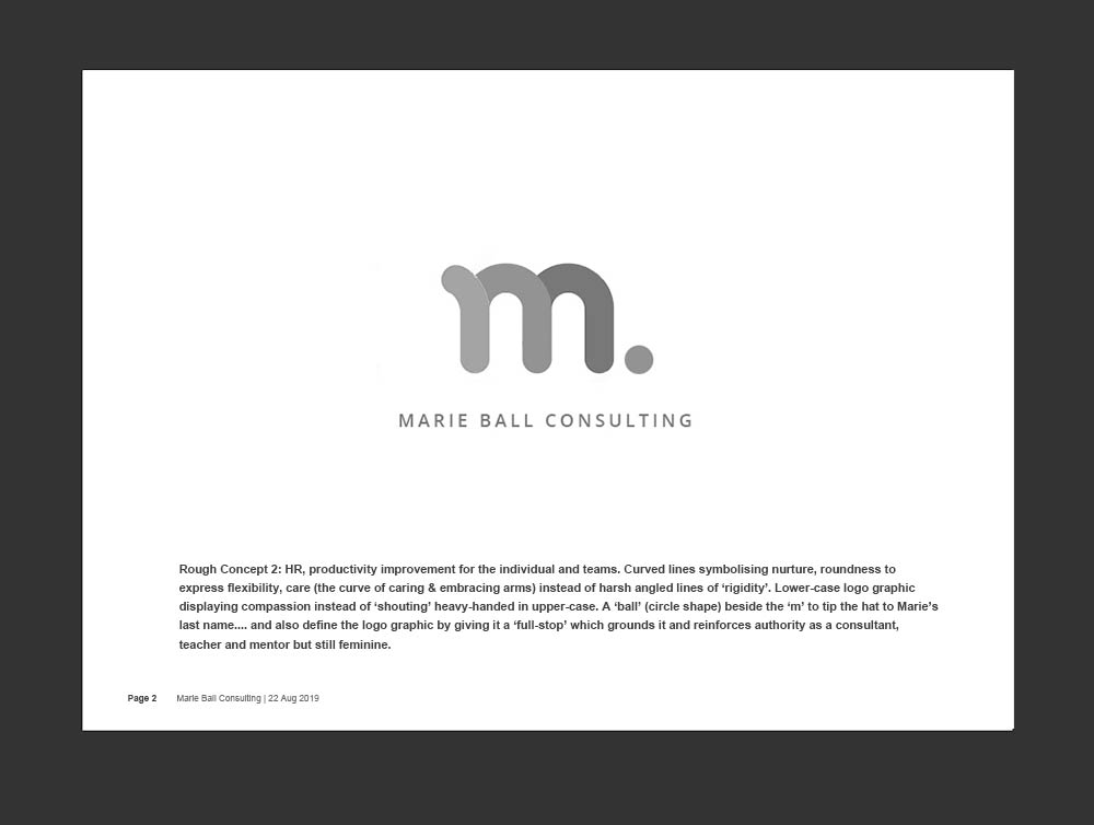 Marie Ball Consulting - Logo - Black and White Concept