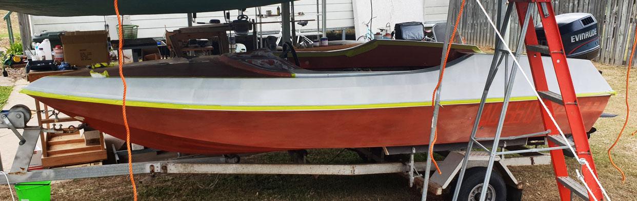 Waterski Boat Restore/ Refurb Project – 1972 Pride Cheetah