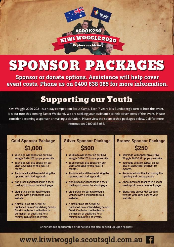 Kiwi Woggle Scout Camp 2020-2021 - Sponsorship Pack