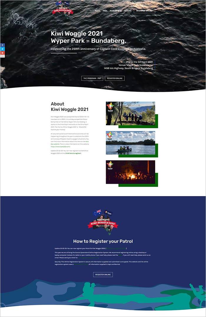 Kiwi Woggle 2021 website - Scouts Queensland