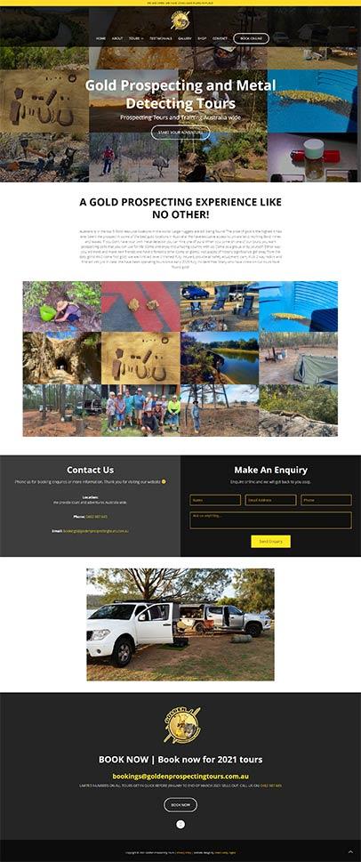 Golden Prospecting Tours - website