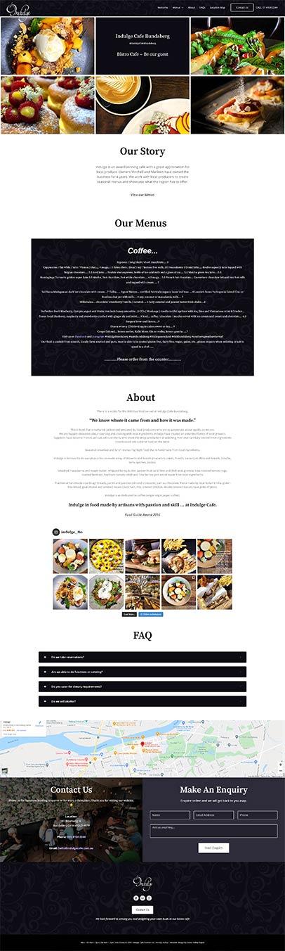 Indulge Cafe and Bistro - Bundaberg website