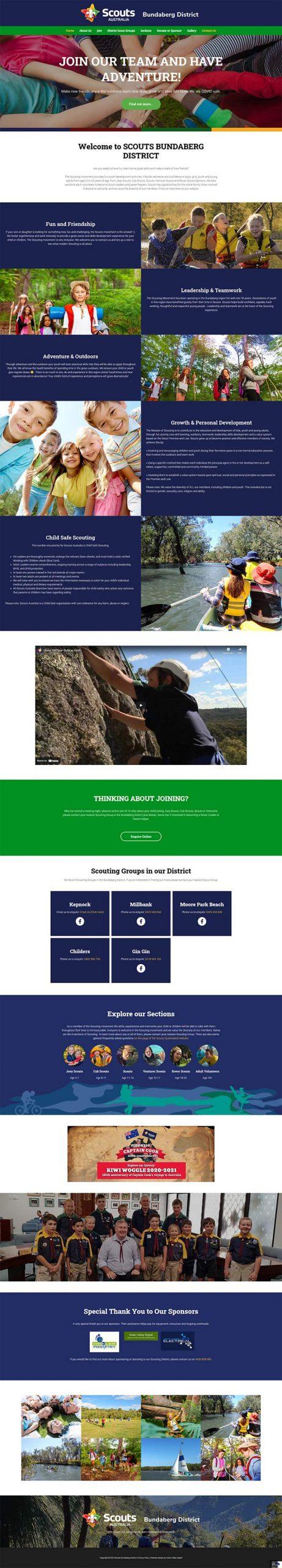Bundaberg District Scouts Queensland - website