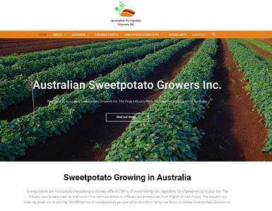 Australian Sweetpotato Growers Inc - website
